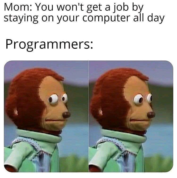 You wont get a job by staying on your computer all day