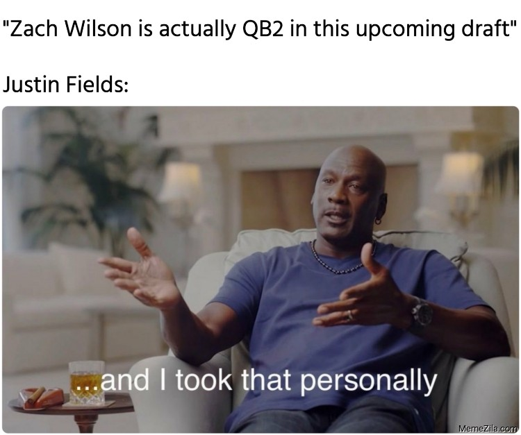 Zach Wilson is actually QB2 in this upcoming draft Meanwhile Justin Fields meme