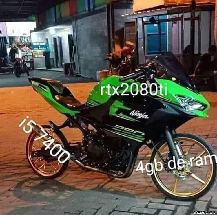 i5 7400 Rtx2080ti 4GB ram meme